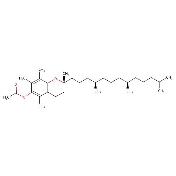 Tocopheryl acetate formula