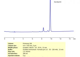 HPLC Determination of Darobactin on Primesep 200 Column