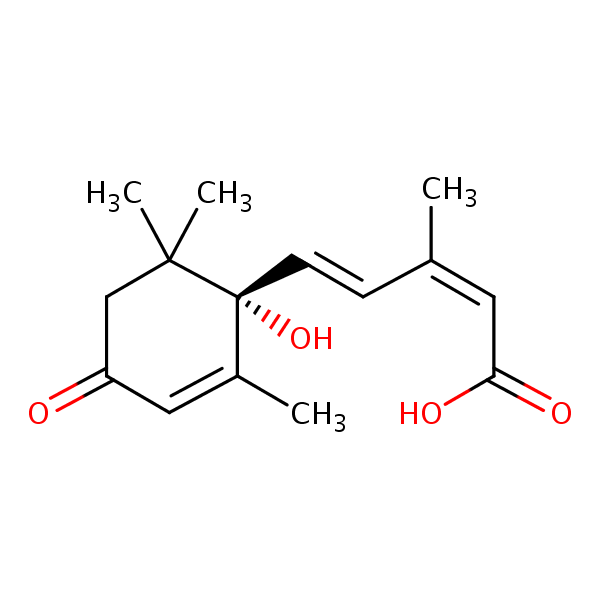 (1S)-Abscisic acid structural formula