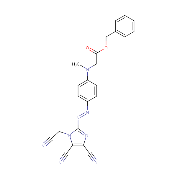 Benzyl N-(4-((4,5-dicyano-1-(cyanomethyl)-1H-imidazol-2-yl)azo