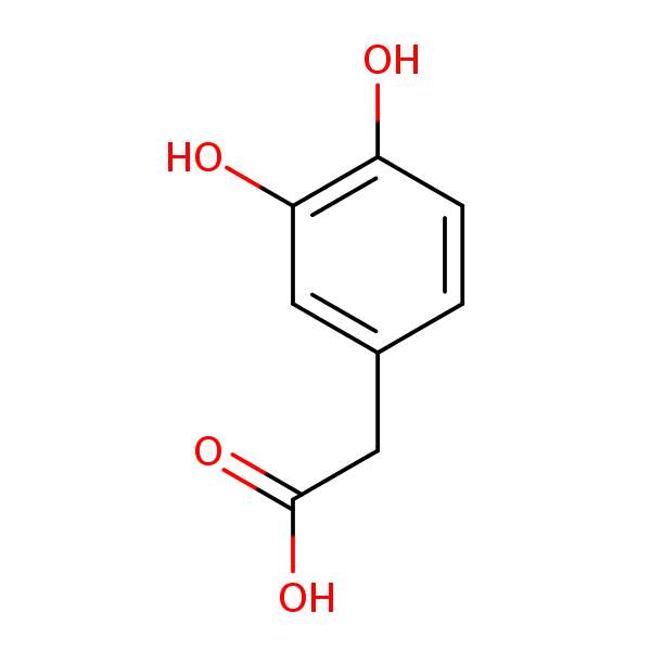 DOPAC (Dihydroxyphenylacetic Acid) structural formula