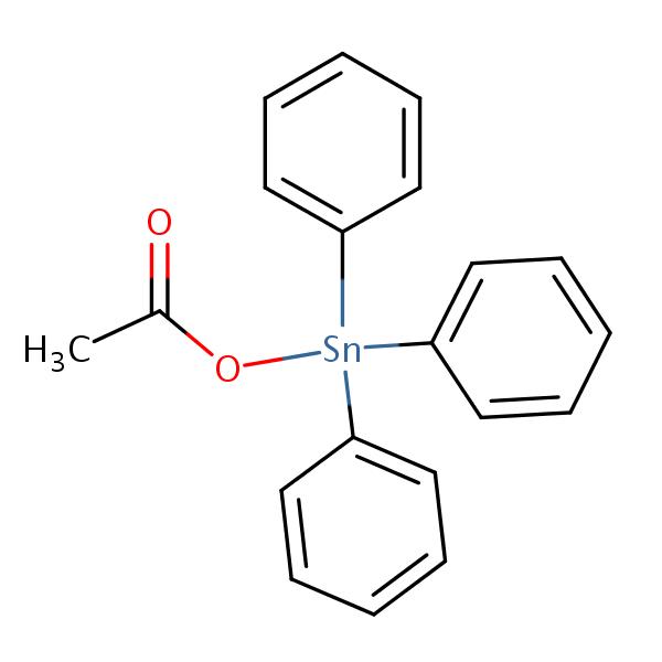 Fentin Acetate structural formula
