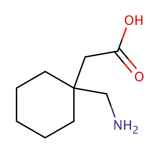 Gabapentin structural formula