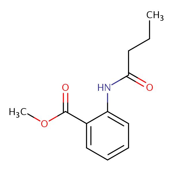 Methyl 2-((1-oxobutyl)amino)benzoate | SIELC  Methyl Benzoate Structural Formula