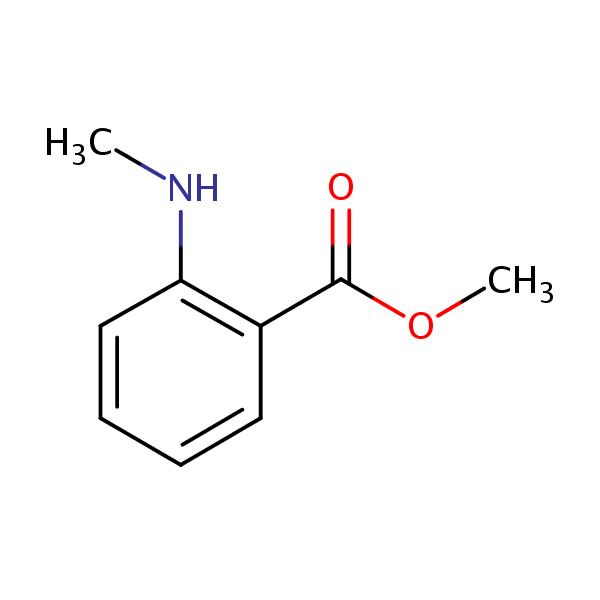 Methyl 2-(methylamino)benzoate | SIELC  Methyl Benzoate Structural Formula
