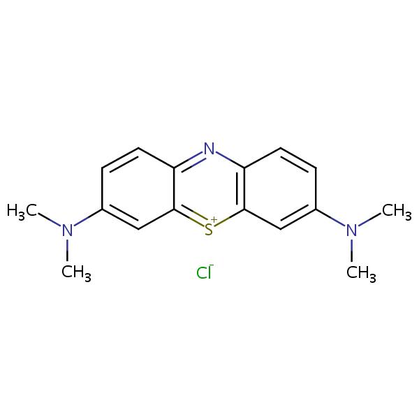 Methylene Blue structural formula