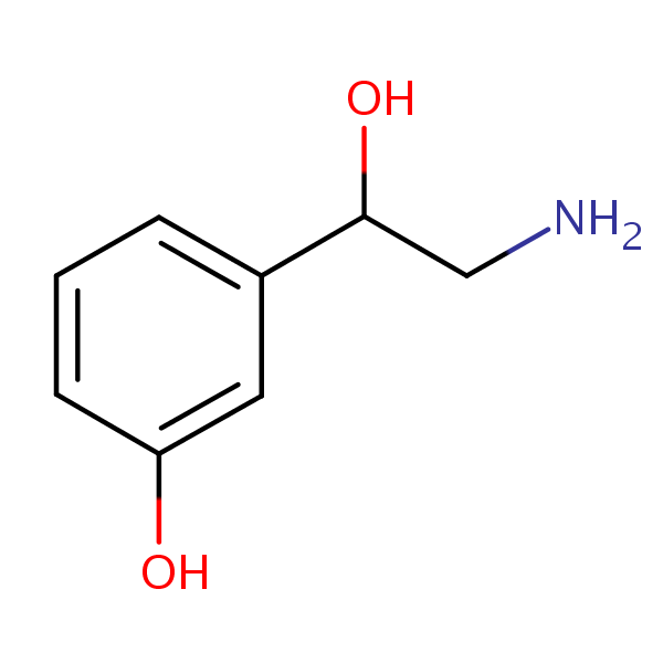Norphenylephrine structural formula