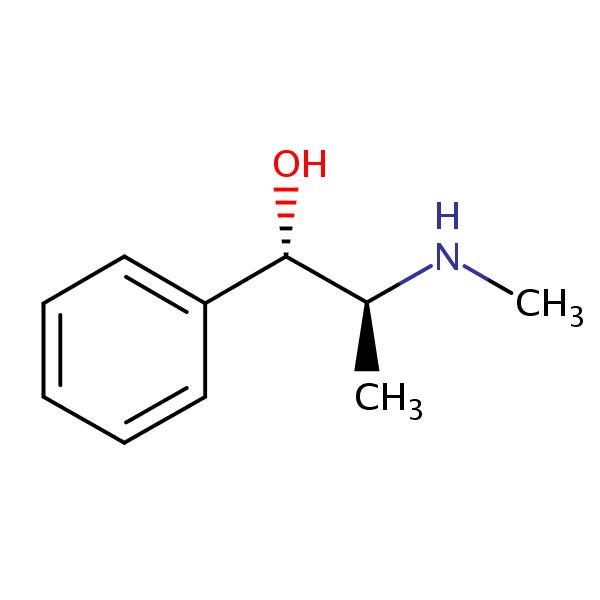 Pseudoephedrine (PSE) structural formula
