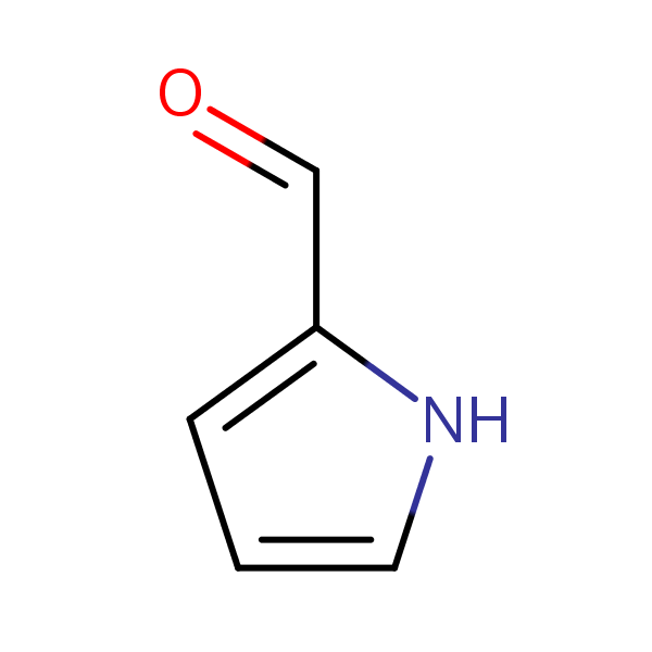 Pyrrole-2-carbaldehyde structural formula