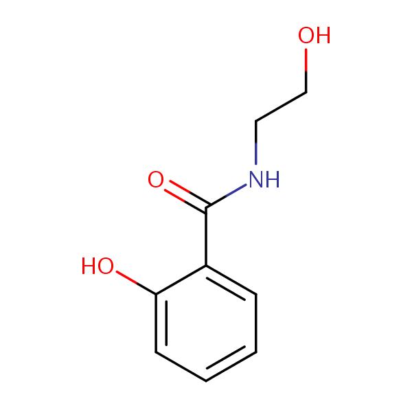 salicylic acid ethanolamide structural formula