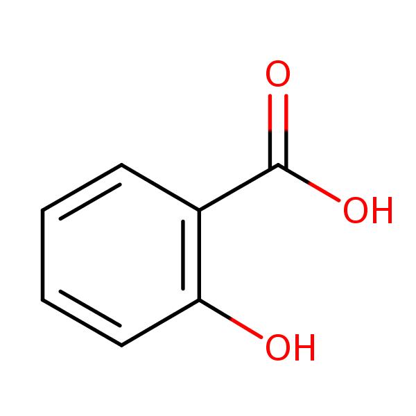 salicylic acid structural formula