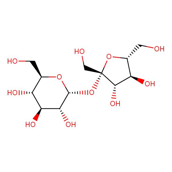 Sucrose structural formula
