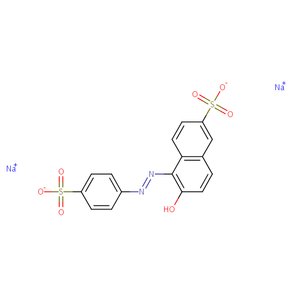 Sunset Yellow structural formula