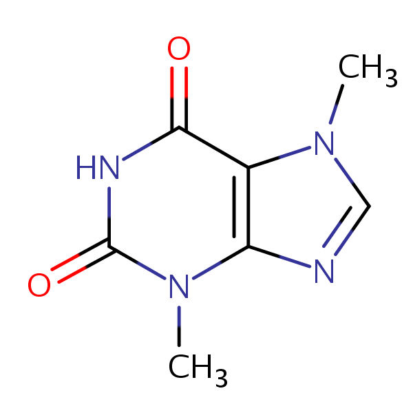 Theobromine structural formula