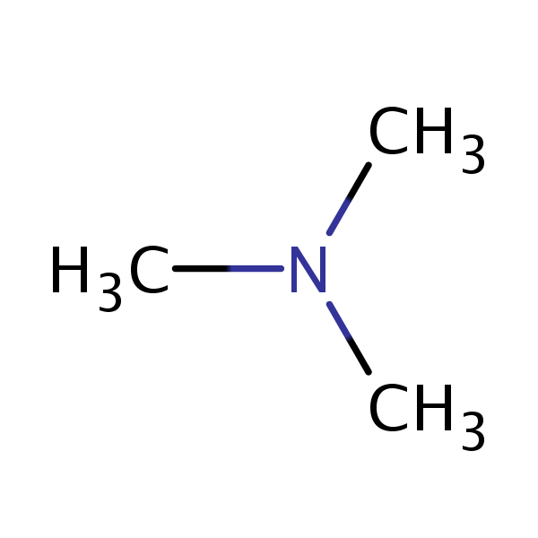 Trimethylamine structural formula