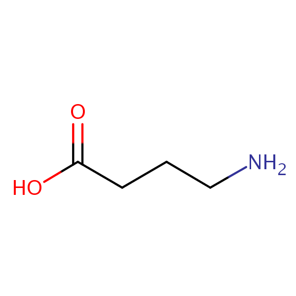 gamma-Aminobutyric Acid (GABA) structural formula
